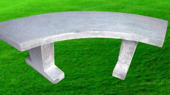 Banco de concreto curvo
